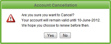 Do you Really Want to Cancel?